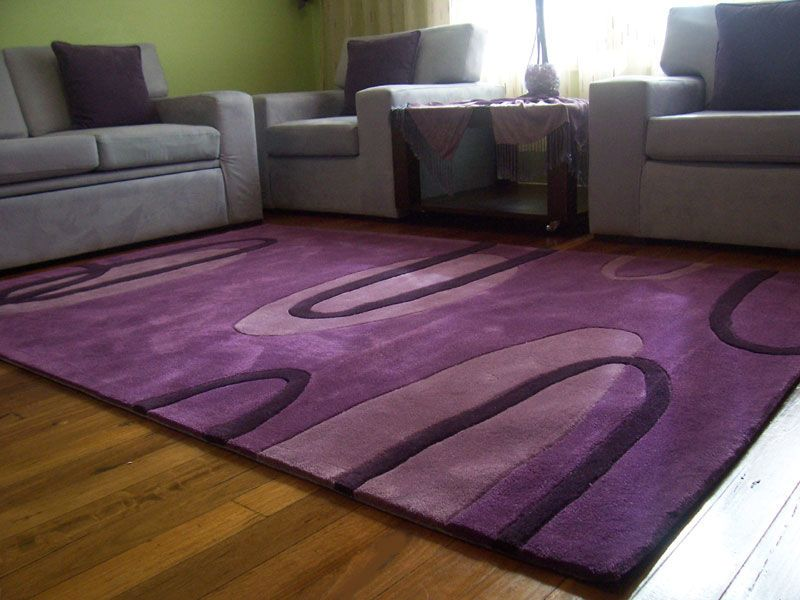 Modern Purple Area Rug In Living Room