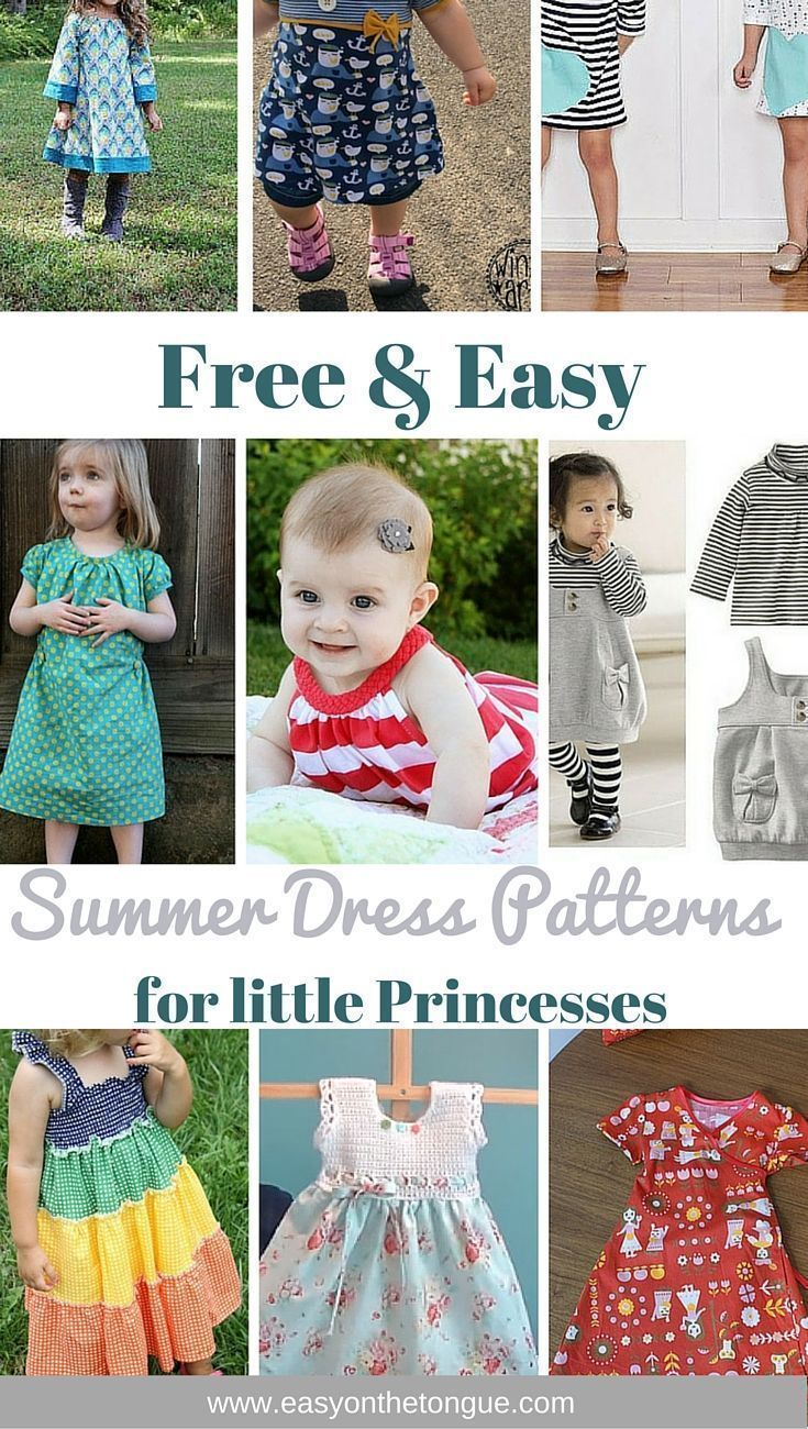 Free & Easy Dress Patterns for little Girls | Nähen, Kleider Kinder ...