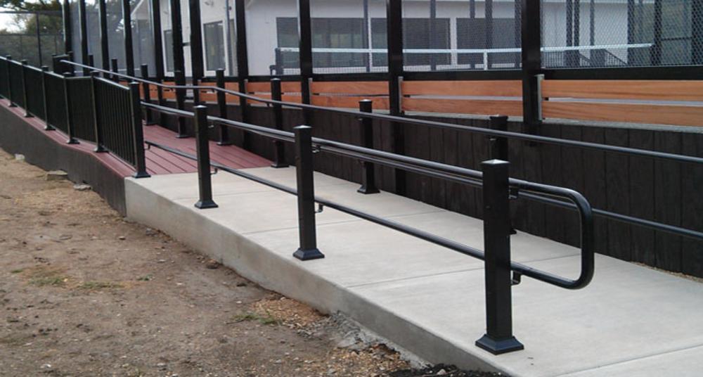 Best Ada Handrail Ada Exterior Handrail Madden Industries 640 x 480