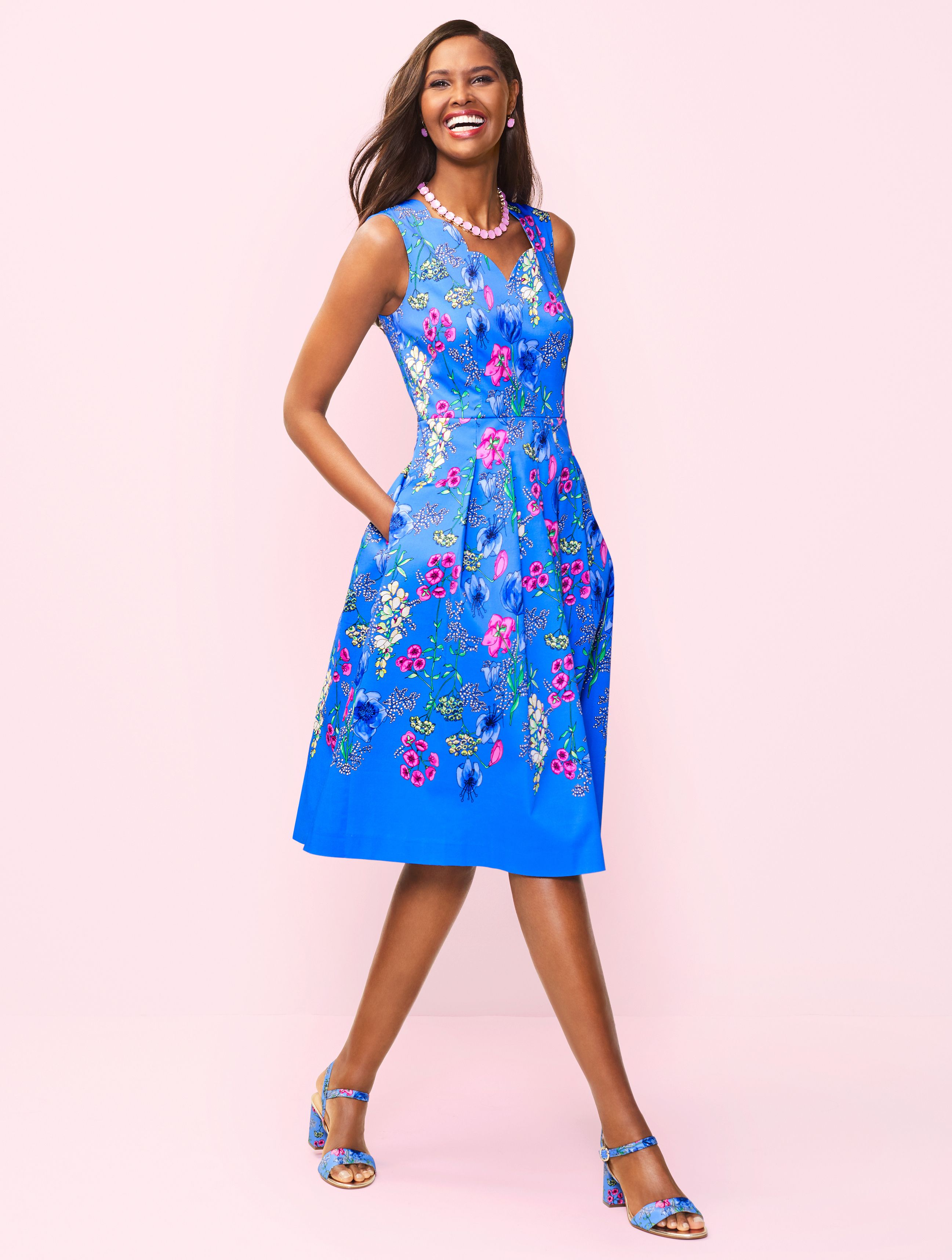 Our Nothing But Blue Skies Sundress Can T Help But Bring A Smile Be Sure To Layer On A Soft Shrug When It Ge Fit And Flare Dress Shrug For Dresses Flare Dress [ 3431 x 2594 Pixel ]