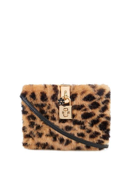 Dolce   Gabbana Dolce leopard-print mink-fur box bag  a1c849256571f