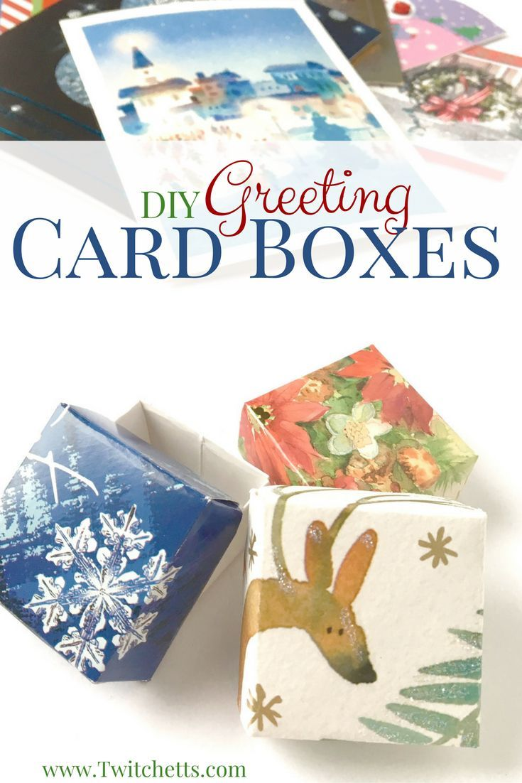 Upcycled card boxes easy upcycled crafts for kids reuse give new life to your old greeting cards this is a great way to upcycle kristyandbryce Images