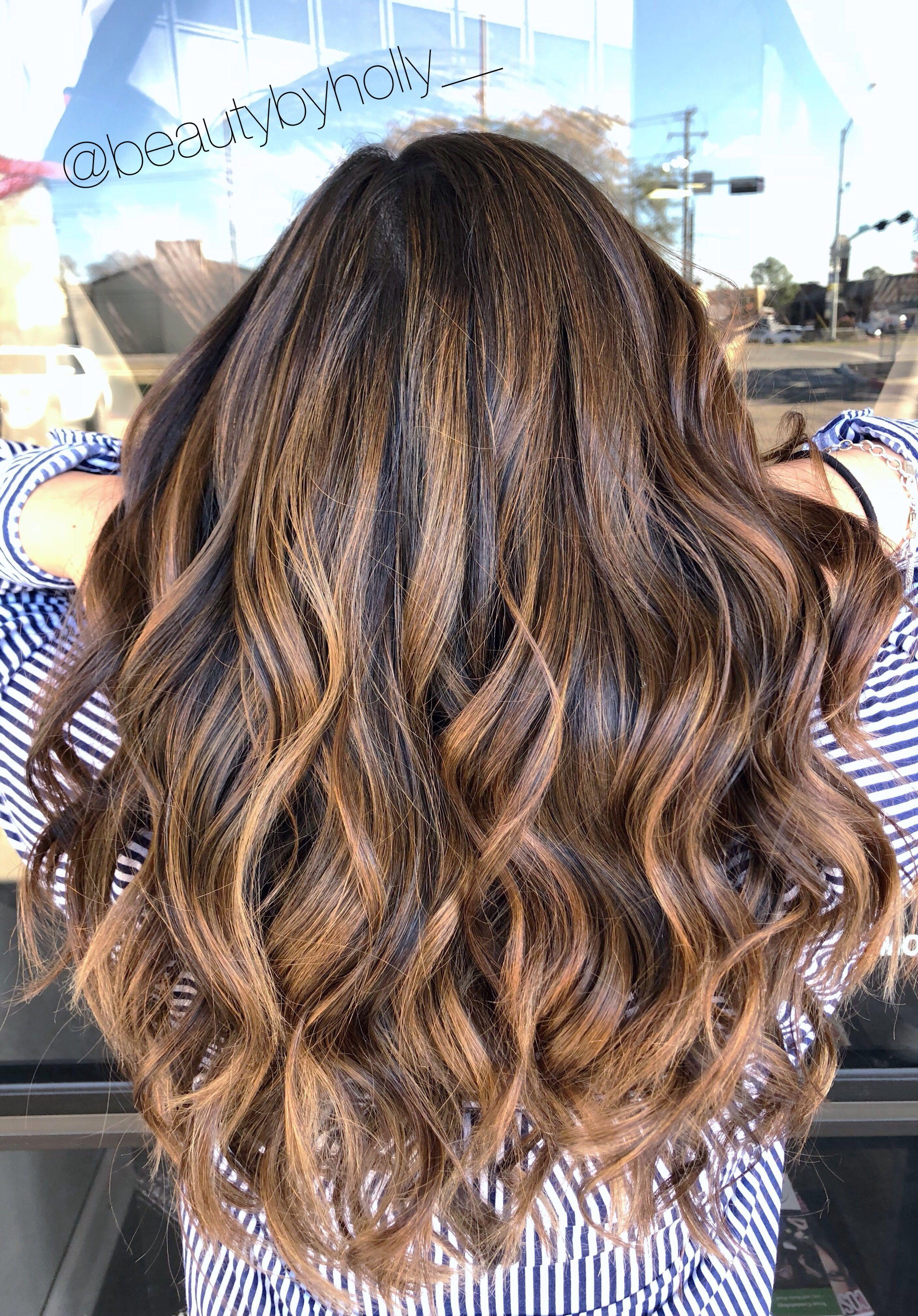 brunette balayage, balayage, caramel balayage, dark hair balayage ...