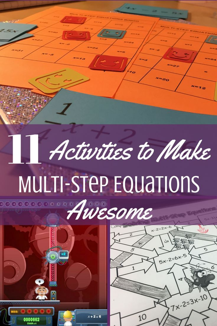 11 Activities To Make Practicing Multi Step Equations Awesome Multi Step Equations Equations Solving Multi Step Equations