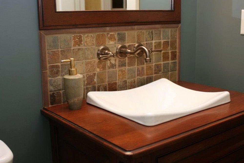 Bathroom sink tile backsplash ideas home design ideas