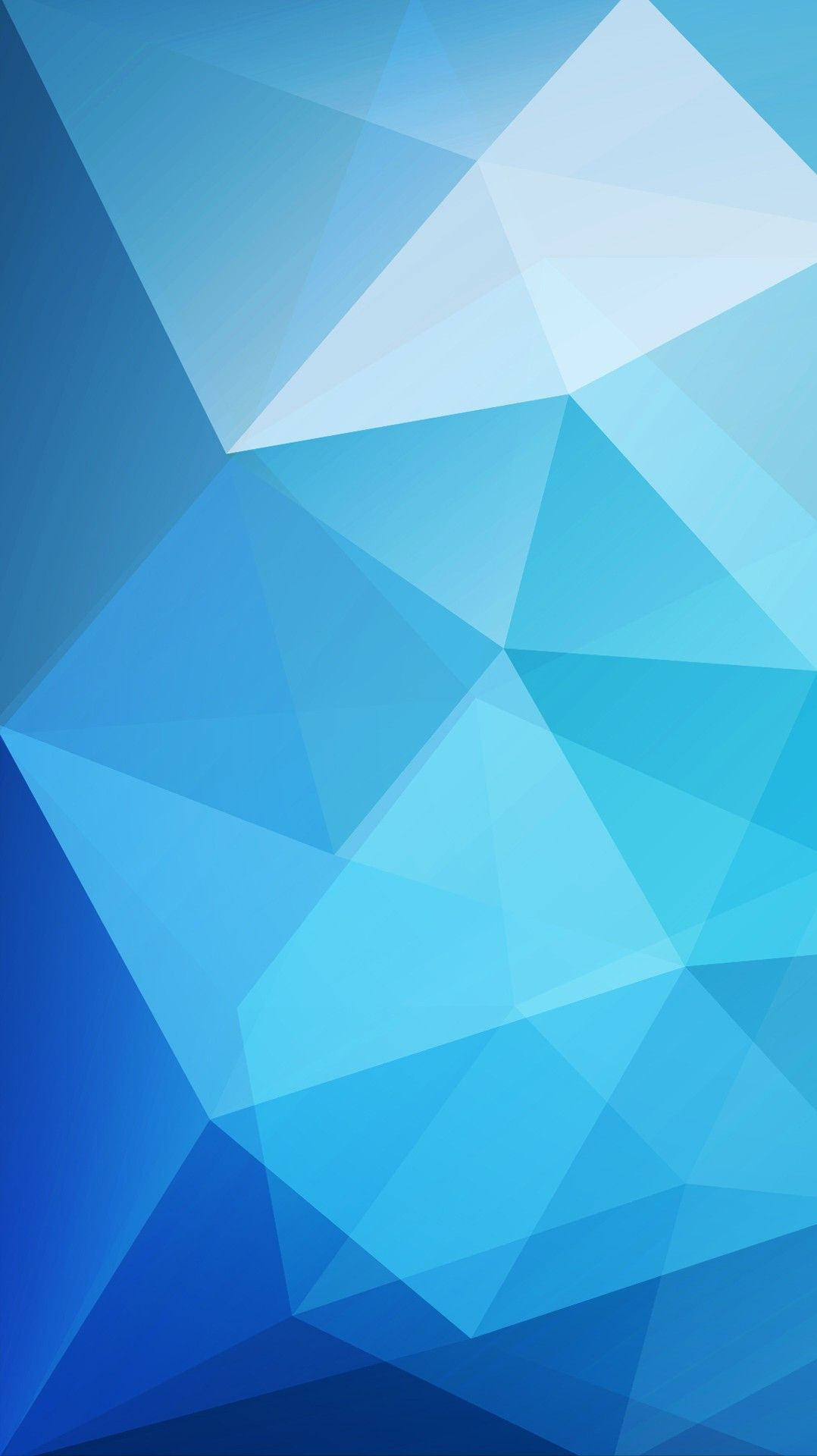 Blue Low Poly Wallpaper iPhone Wallpaper