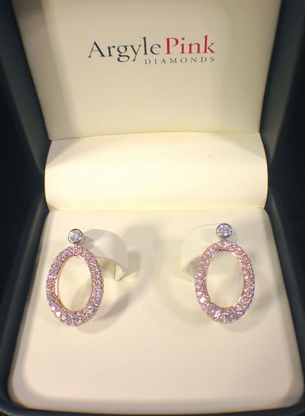 Oprah Winfrey Argyle Pink Diamond Earrings Up For Sale Estimated