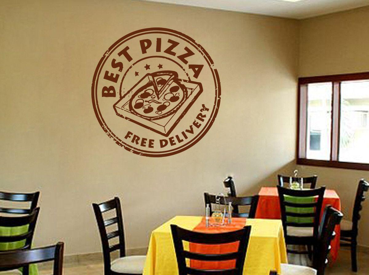 ik1076 Wall Decal Sticker inscription Pizza Italian restaurant pizzeria