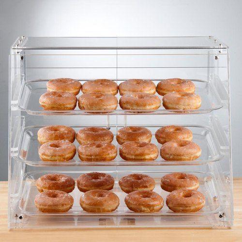 Choice 3 Tray Bakery Display Case With Rear Doors 21 X 17 3 4