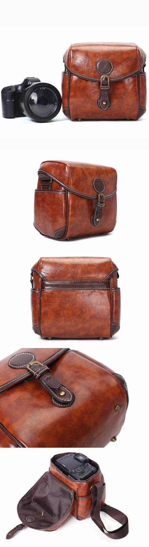Flash Sale PU Leather DSLR Camera Purse, Vintage SLR Camera Case 288 #camerapurse