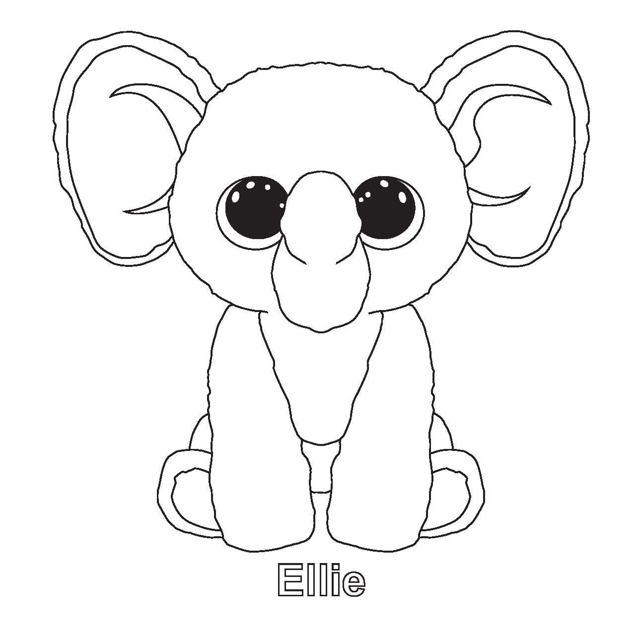 Ellie And Other Ty Beenie Boo Coloring Sheets Beanie Boo