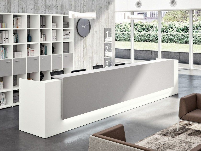 Modular Office Reception Desk Z2 By Quadrifoglio Con Imagenes