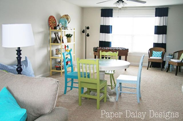 Perfectly decorated room.  Casual, fun, and colorful!