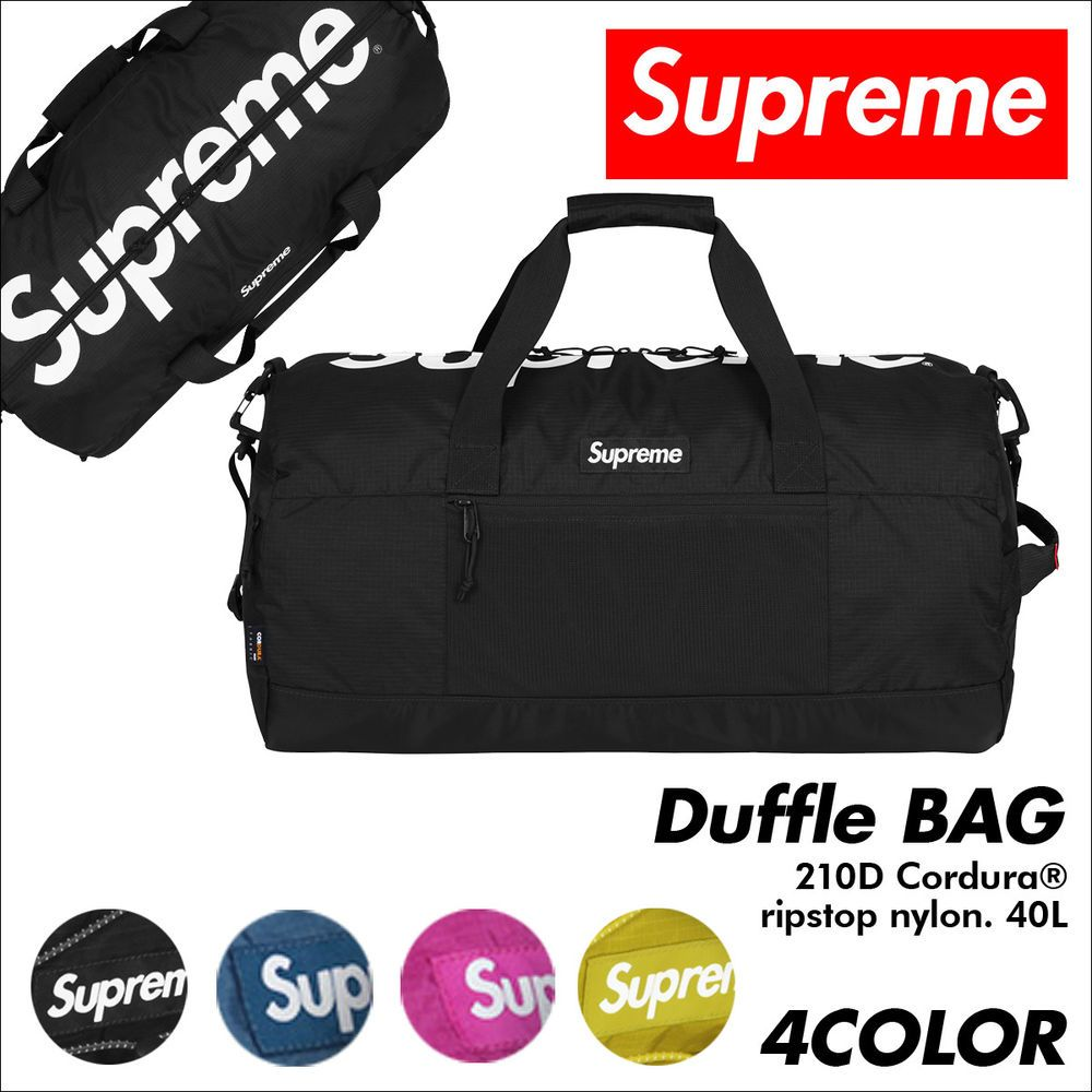 bca8ebe27b 2017 brand new Mens box logo ss17 supreme 42th duffle bag Travel bag handbag  G55  Supreme  Handbag