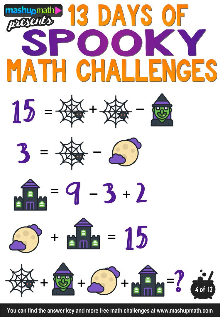 Are Your Kids Ready for 13 Days of Spooky Math Challenges? | First