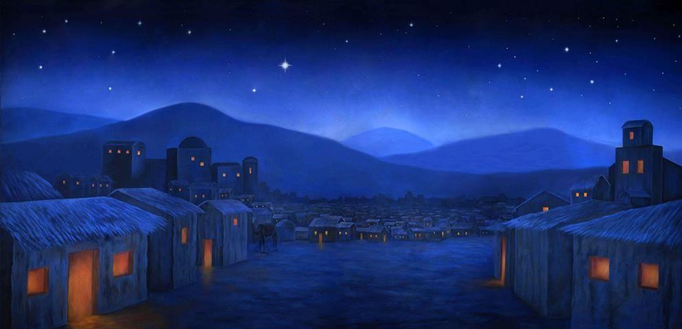 Bethlehem Night Professional Scenic Backdrop Best