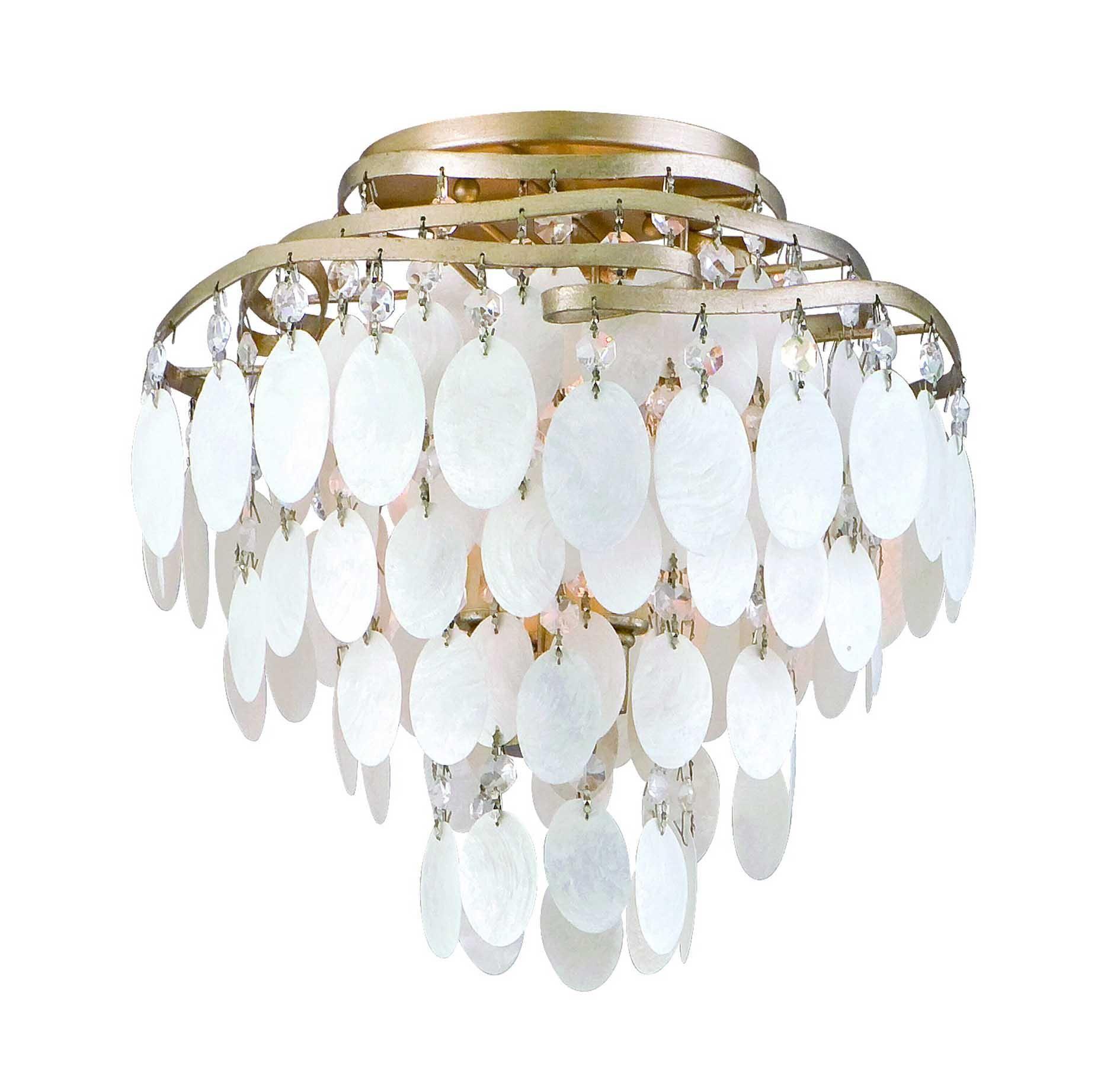 Corbett lighting dolce capiz shell lt semiflush mount corbett