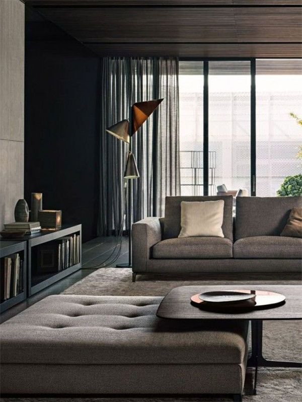 Guys Living Room Decor: Chic Living Room Decor For Men