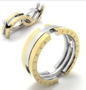 Fashion Charm Stainless Steel Gold Ring for Men Jewelry