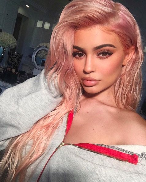 Kylie Jenner debuted rose gold hair – dubbed 'rose quartz' by her hair stylist – on her Instagram in October 2016.