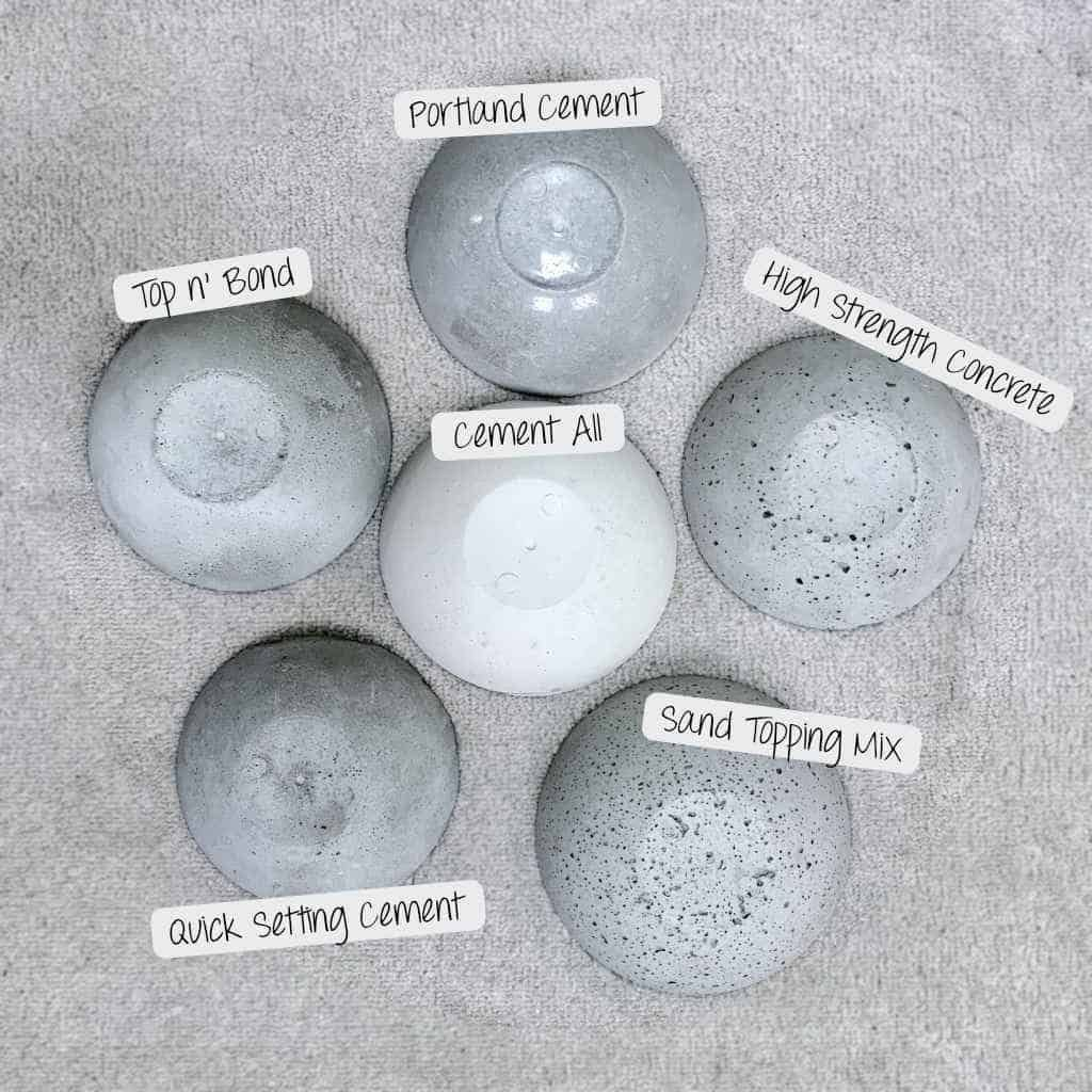 Making Cement & Concrete Crafts is part of Concrete diy projects, Cement crafts, Concrete diy, Cement diy, Concrete crafts, Concrete projects - Learn about making cement and concrete crafts  I tested 6 different types of cement crafts mixes; tested sealers, sheens and textures  Come see!