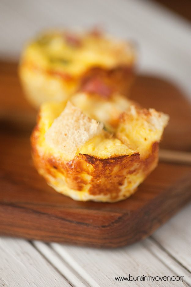 mini mufin tin strata recipe - Cheese Strata Recipes Brunch