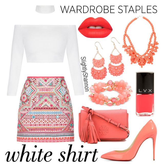 """Wardrobe Staples - White Shirt"" by slightlyshannon ❤ liked on Polyvore featuring Nine West, Accessorize, Christian Louboutin, Tory Burch, Ek Thongprasert, Lime Crime, LVX, whiteshirt and WardrobeStaples"