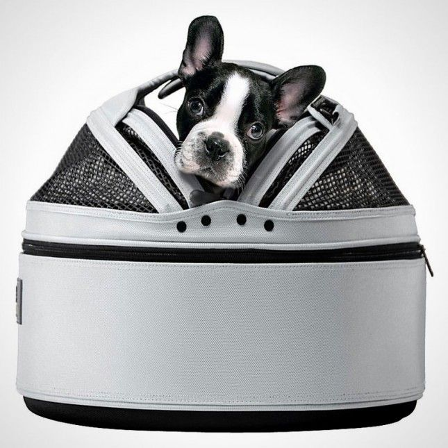 Check out this pet bed, car seat, and carrier in one.