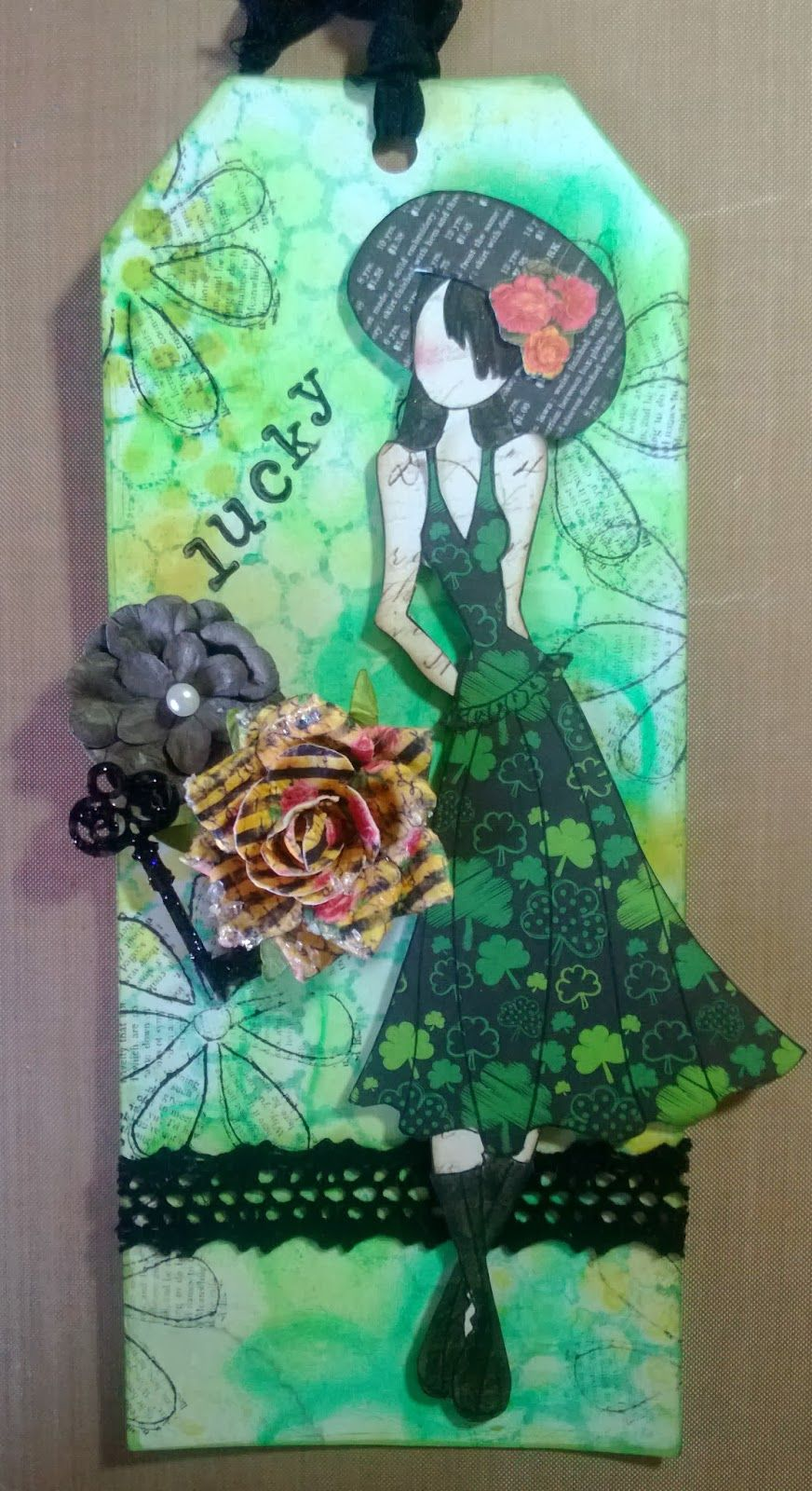 Julie Nutting Designs- tag of the month - Lucky!