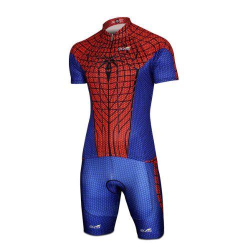 b519db397 G-LIKE 2013 Hot Spider Man Costume Short-Sleeve Biking Cycling Jersey Bib Shorts  Set