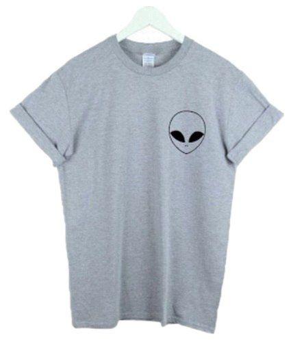 Women's Alien smiling Crewneck T-Shirt