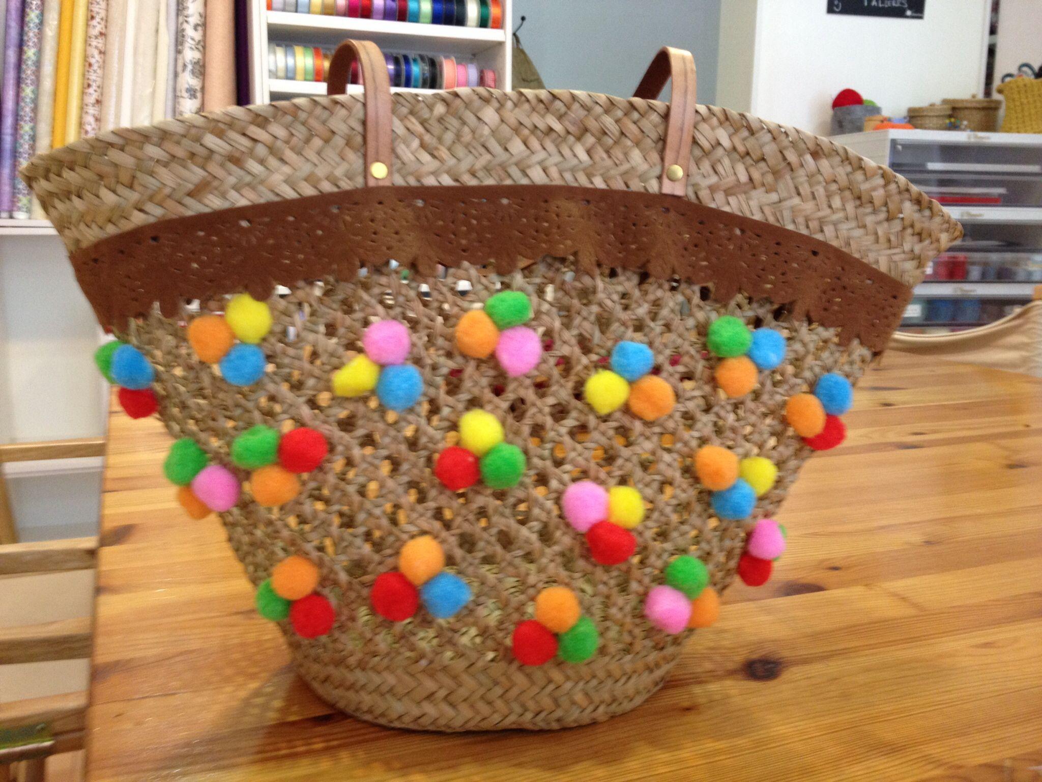 Capazos decorados cestos de mimbre pinterest cestas - Capazos de mimbre decorados ...