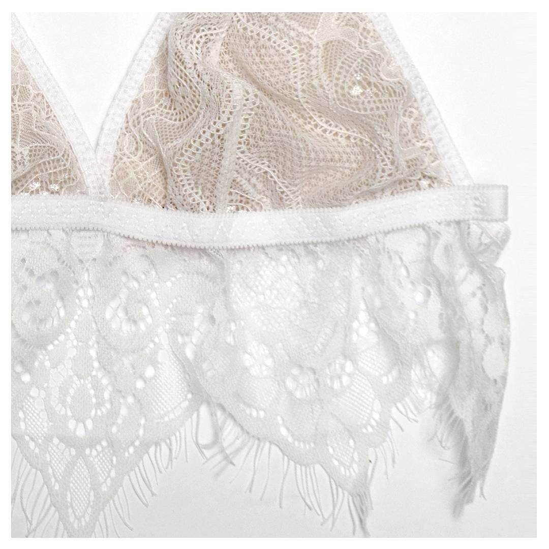 83ed34e2d12 Close-up of this fine  bralette that you ll be able to buy · White Beige