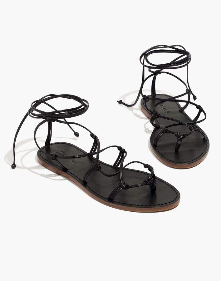 f292b921043 Madewell The Boardwalk Lace-Up Sandal in 2019