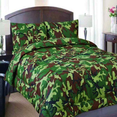regal comfort full size green army camouflage camo comforter u0026 sheet set bed in a