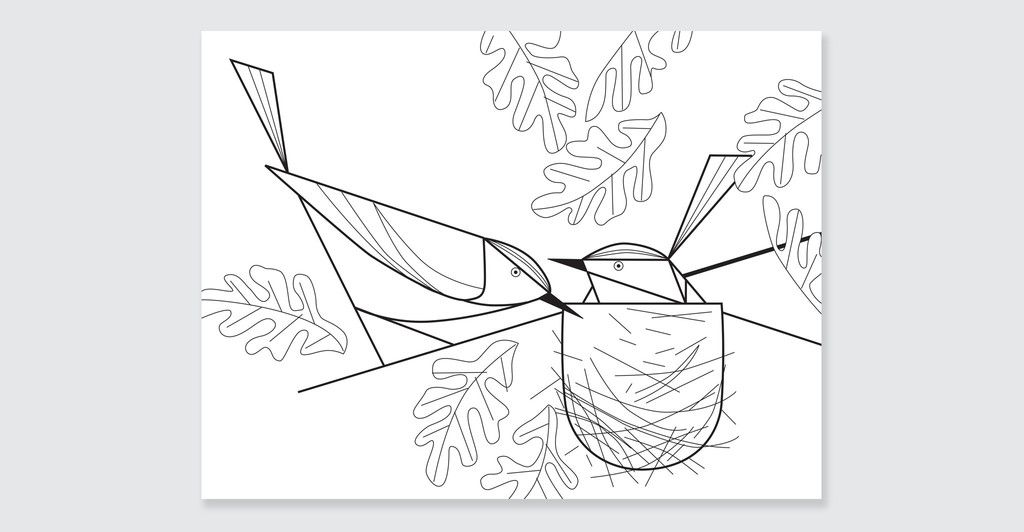 charley harper coloring pages - Google Search | Wild kratts forrest ...