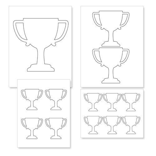 photo regarding Printable Trophy identified as No cost Printable Trophy Template - Printable Snacks Vbs