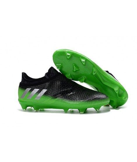 Adidas Messi 16 Pureagility FG AG negro verde plata b476e60ba286c