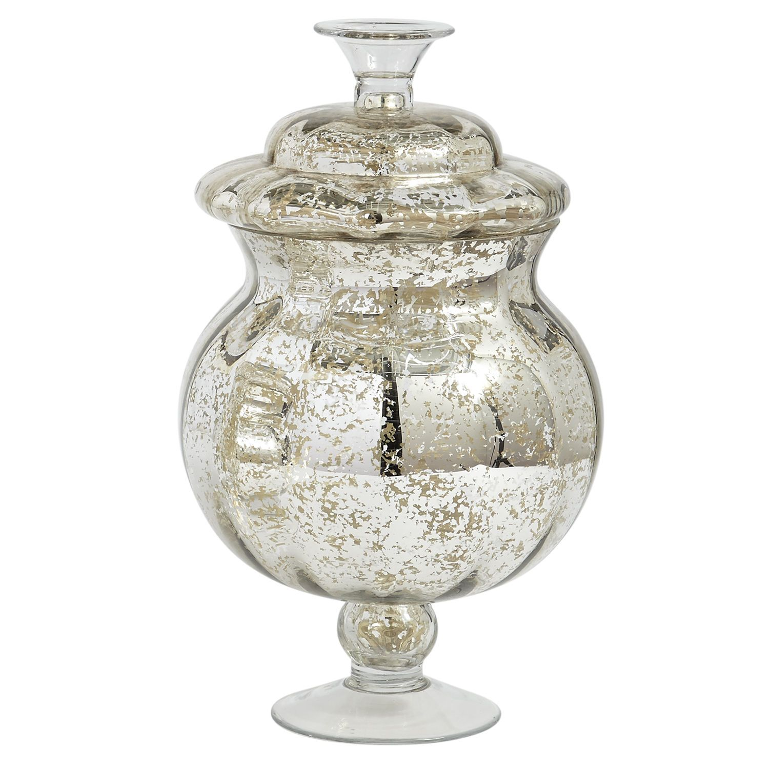 Mercury Glass Apothecary Jar Large With Images Glass