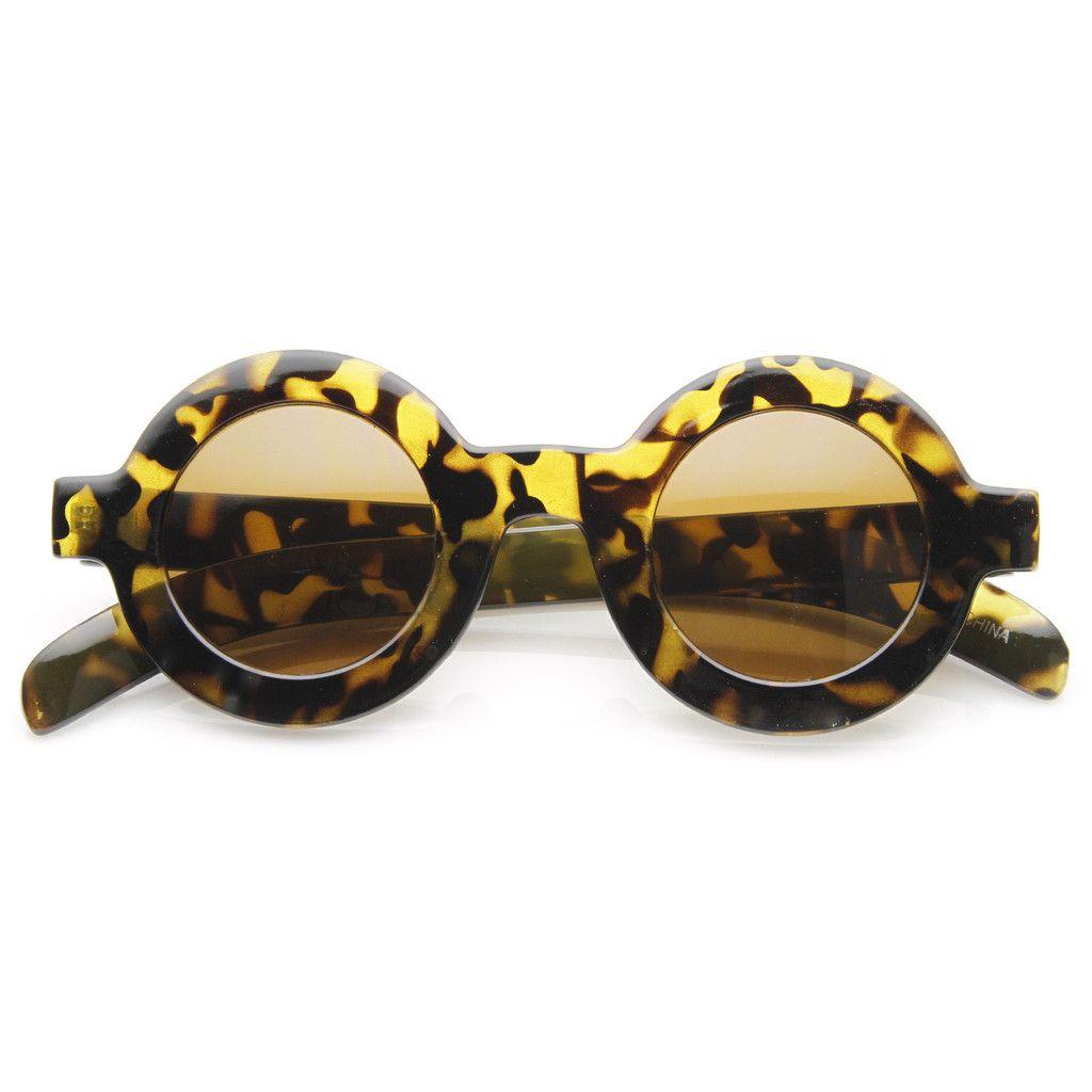 Trendy Blogger Womens Fashion Thick Round Sunglasses 8980 | Anteojos ...