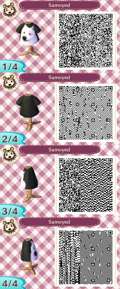 Samoyed Outfit In Animal Crossing New Leaf Animal Crossing Qr Animal Crossing Qr Codes Clothes Qr Codes Animal Crossing