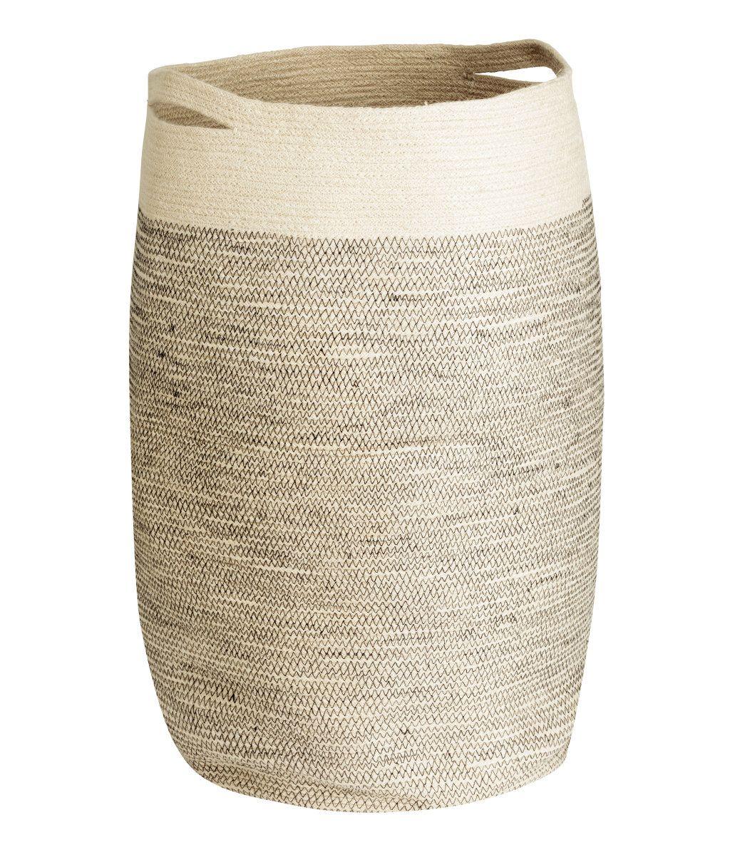 Naturweiss Waschekorb Aus Jute Mit Zwei Tragegriffen Durchmesser Ca 35 Cm Hohe 65 Cm Waschekorb Korb Waschebox