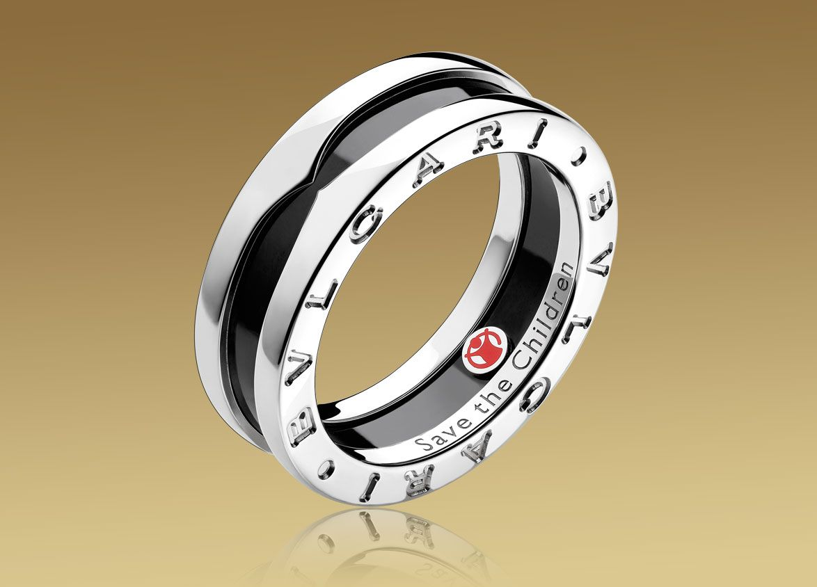 sterling silver with black ceramic bulgari ring costs and a portion of it will be donated to save the children campaign