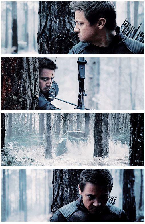 *looks* *shoots arrow* *silver blur* *Hawkeye DEATH GLARE*