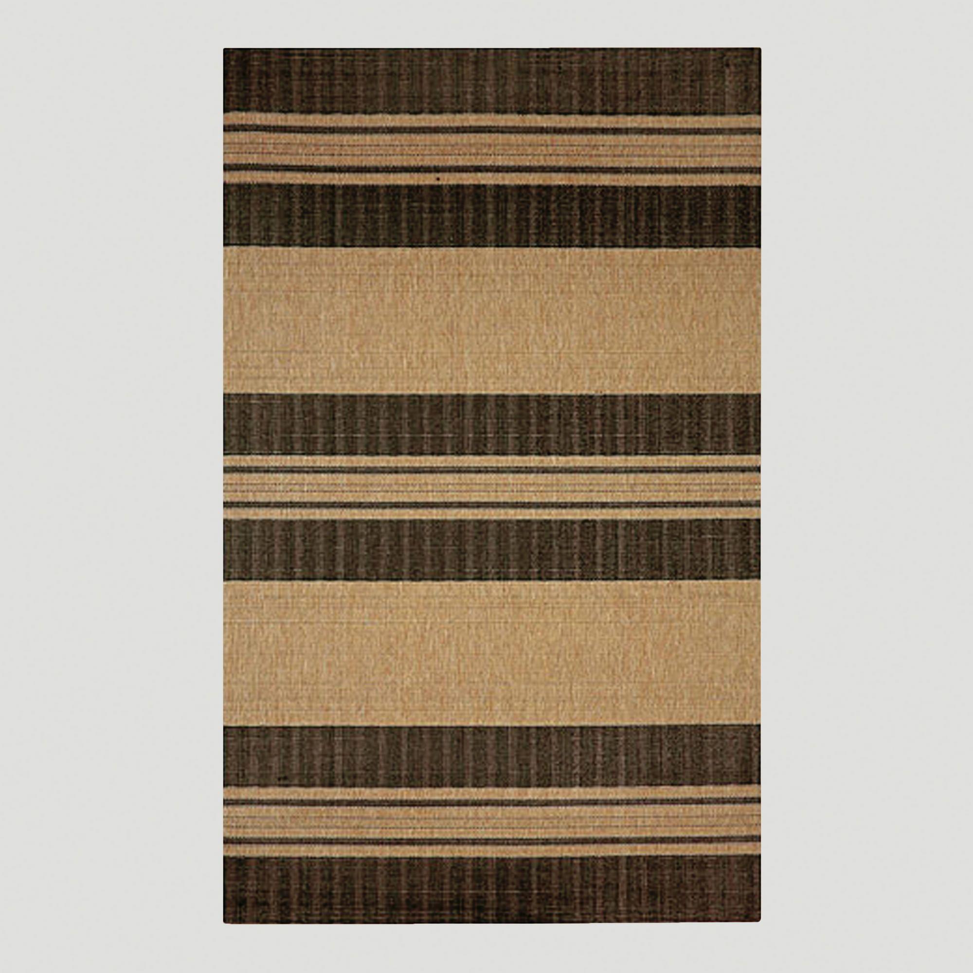 Textured Stripe Indoor Outdoor Rug Black 5 X 7 139 99