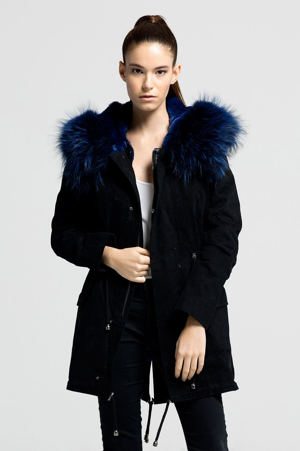 Ipekyol mont 2015 2 jpg pictures to pin on pinterest - Leather Feather K Rkl Parka