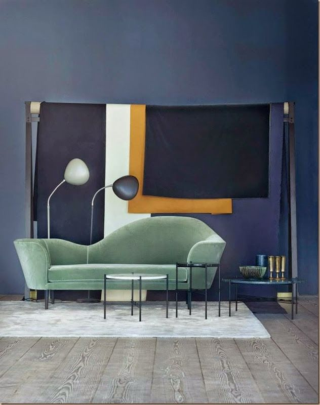 GUBI // Grand Piano sofa, TS table and Cobra floor lamp | Interior ...