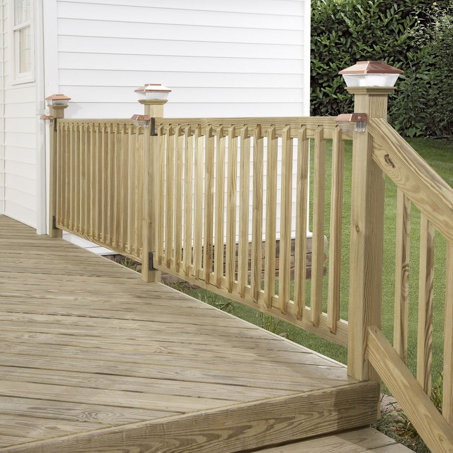 Shop Severe Weather Treated Deck Railing System Common   Pressure Treated Stair Railing