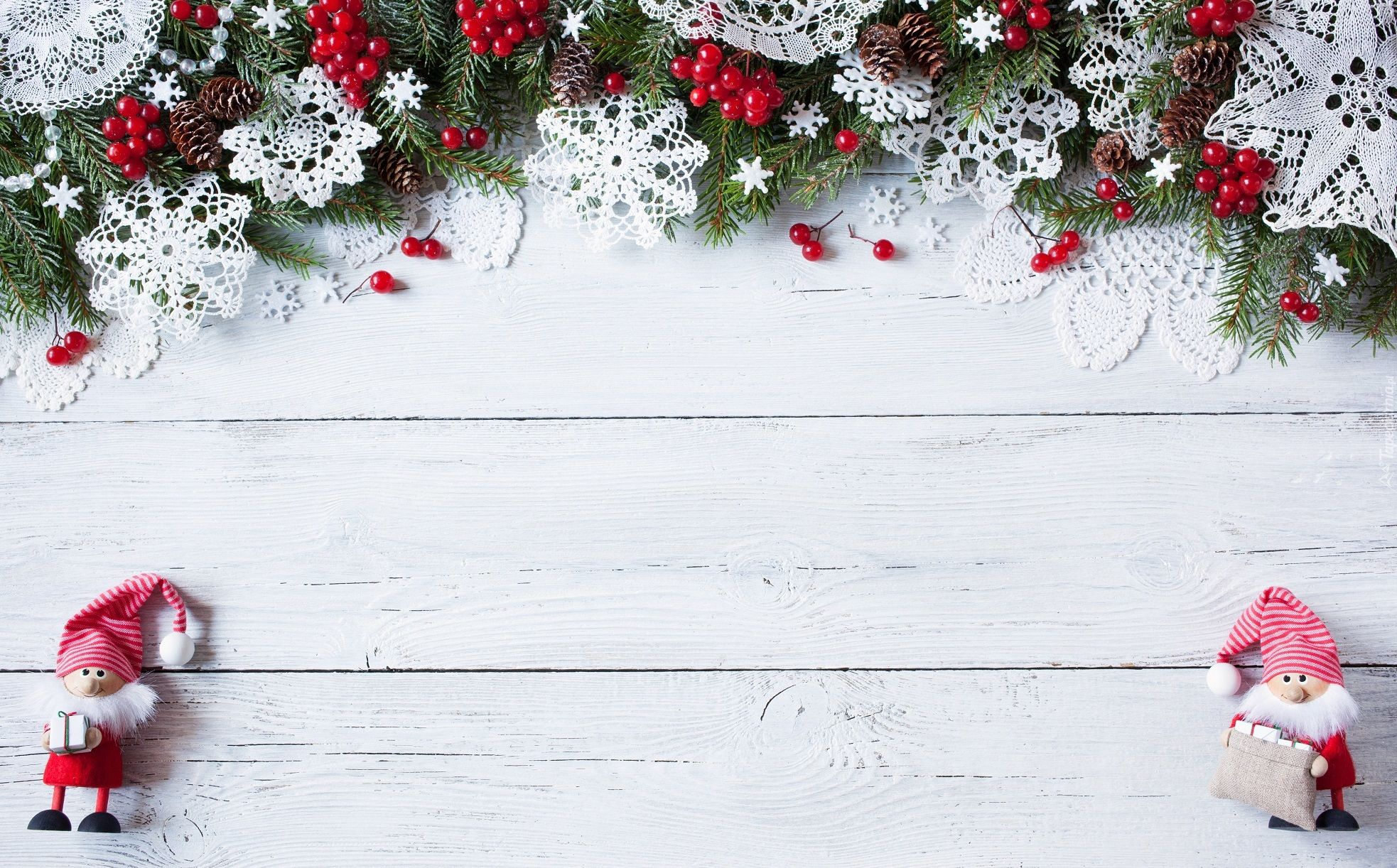 Dekoracja świąteczna Boże Narodzenie Gałązki świerka