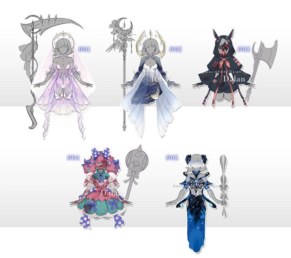 Anime Batch Charlotte: Auction : OUTFIT #50-51 [OPEN] By Popza10CM.deviantart.com